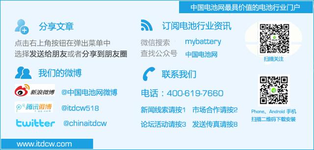 关注订阅中国电池网