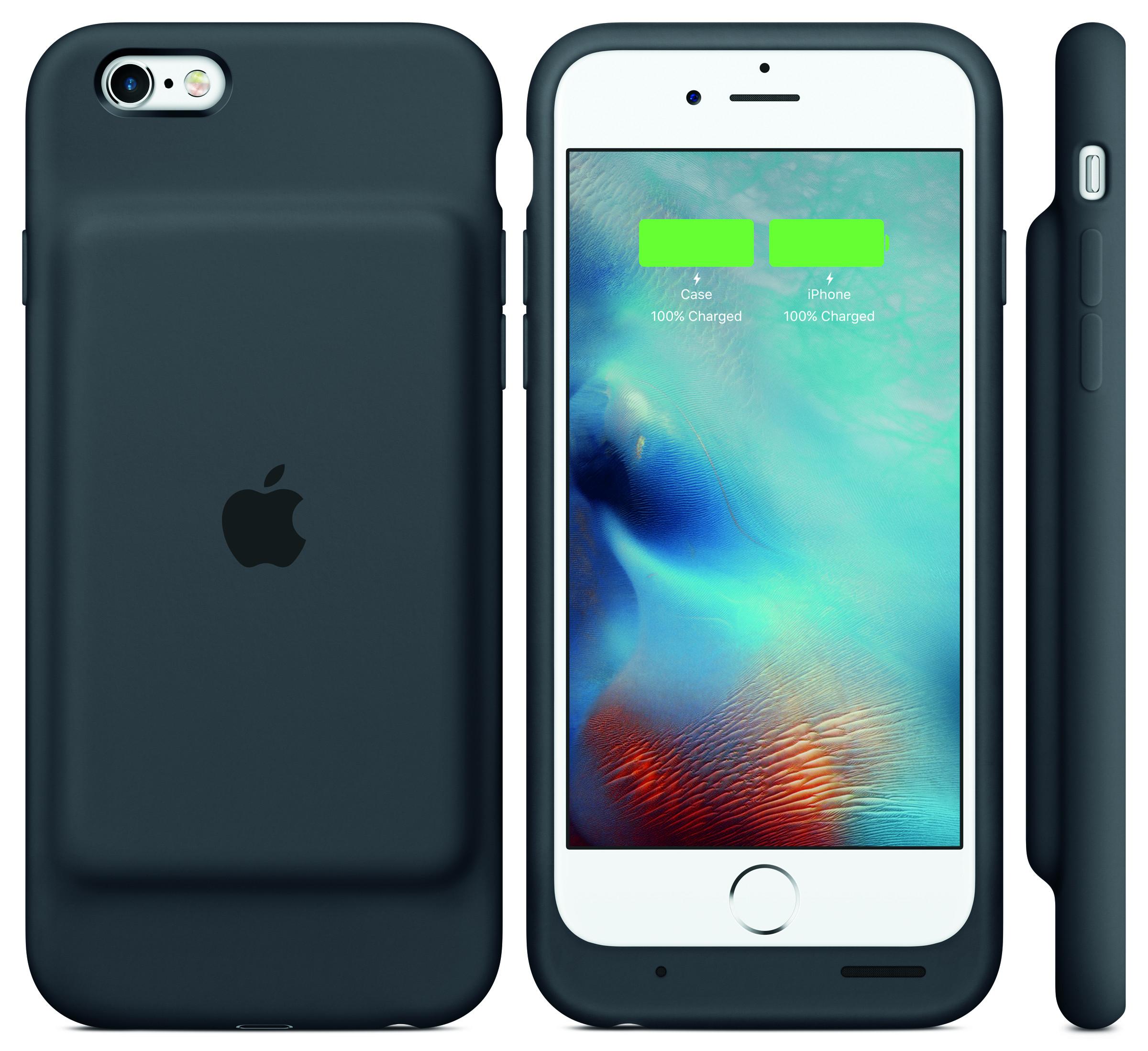 苹果发布适配iPhone 6/6s的智能电池保护套
