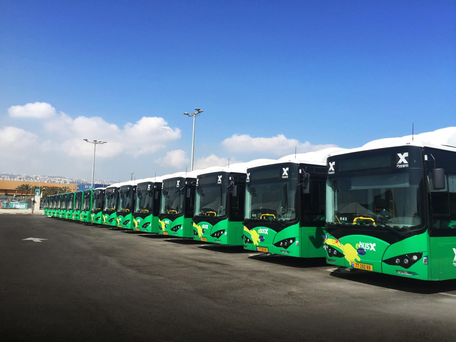 绿色交通获认可 比亚迪打造以色列首支纯电动大巴车队