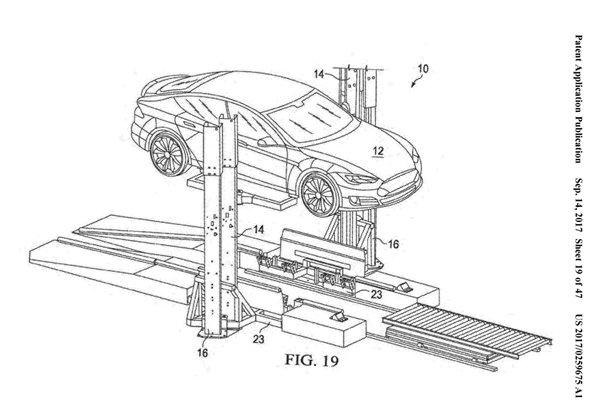15分钟换电池:特斯拉新专利解决电动车充电慢硬伤