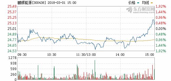 鹏辉能源2017年净利2.60亿 同比增长87.50%