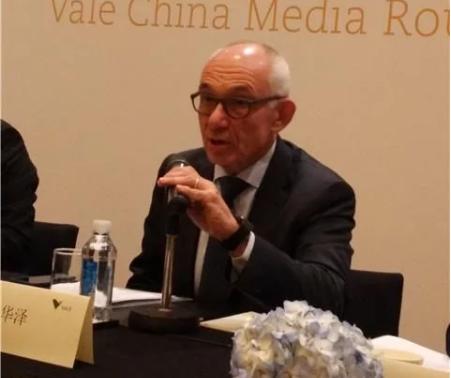 淡水河谷CEO时华泽:看好电动车电池行业 将加大镍钴投资力度