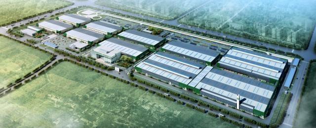 江苏国新新能源乘用车项目鸟瞰图