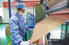 铜冠铜箔锂电箔:2018年生产6818吨 2019年产销量目标1万吨
