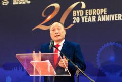 已获纯电动大巴订单超650台 比亚迪欧洲分公司举办二十周年庆典