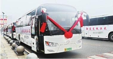 武汉首批氢燃料电池通勤客车交付 续航500公里