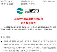 11.48亿元再收购7.3%股权!上海电气拟控股赢合科技