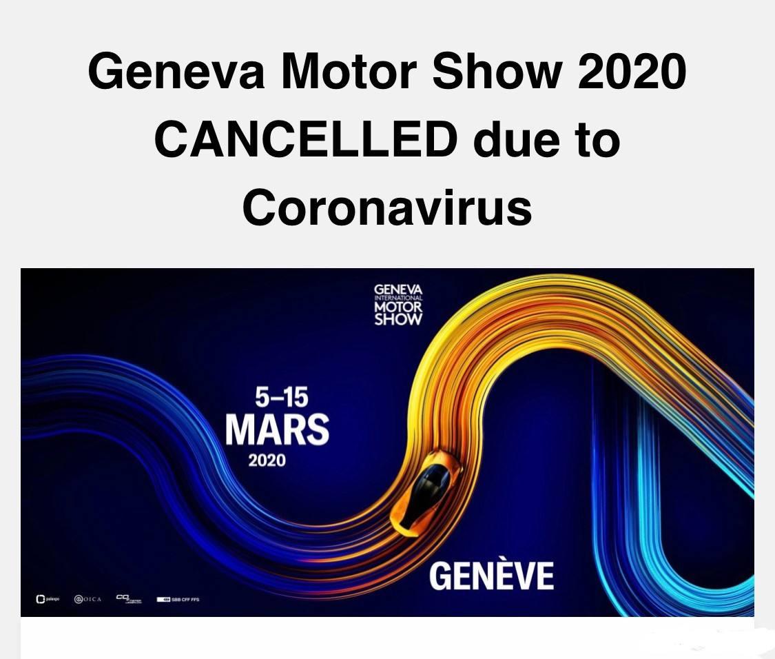 变为线上发布  日内瓦车展取消加速数字化营销