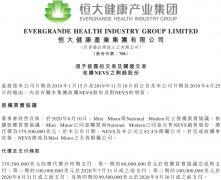 3.79亿美元!恒大健康拟购瑞典电动车商NEVS剩余17.6%股权