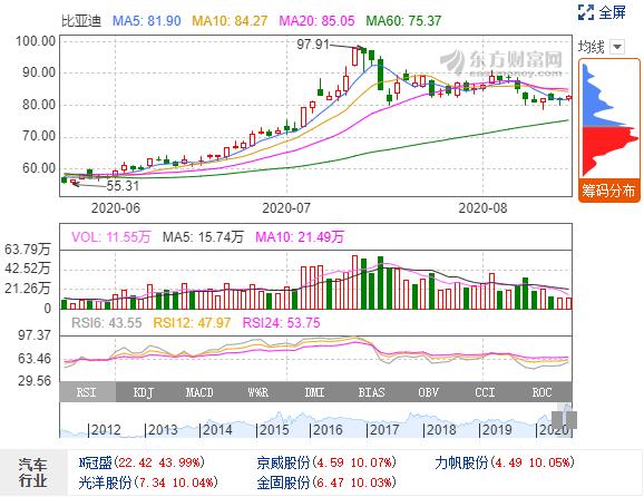 """中国EV概念股受全球投资者关注 中国或将诞生""""下一个特斯拉"""""""