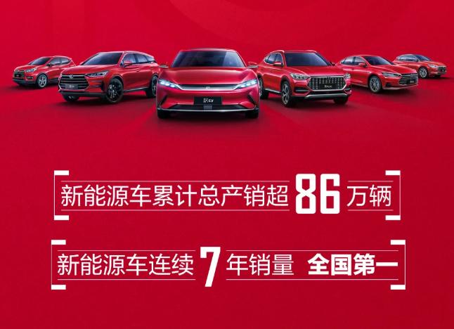 比亚迪10月新能源汽车销售23217辆 汉销售7545辆