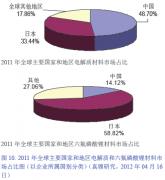 2012年电解质主要国家和地区市场发展情况