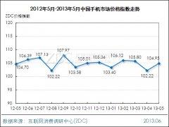 2013年5月中国手机市场价格指数走势