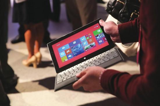 微软改变平板电脑策略 市场份额继续扩大