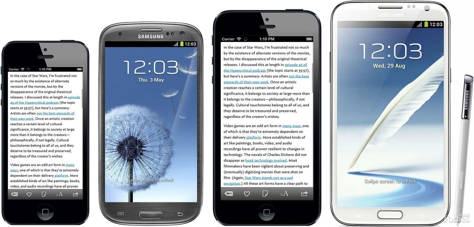 4.8寸屏幕能否帮苹果抢占大屏手机市场