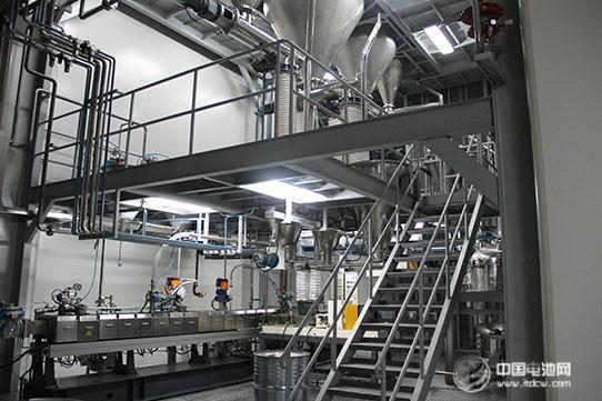 生产的slg75锂电池正负极浆料自动生产线,在浙江南都电源动力股份有限