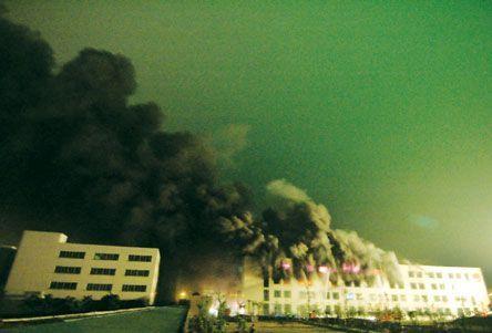 东莞今明阳电池工厂发生大火 已致5人死亡