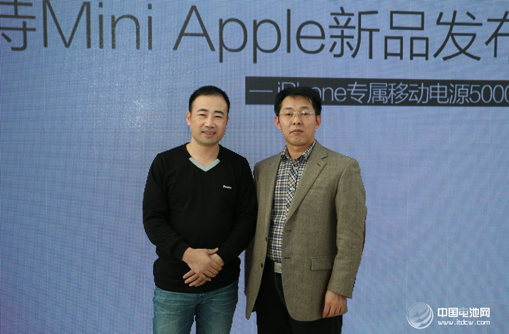 倍斯特总经理潘良春与中国电池网创始人/CEO 合影