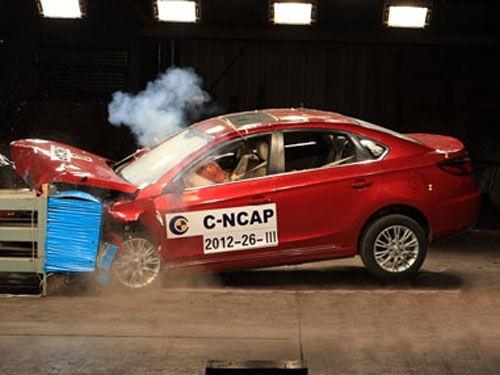 配备安全气囊的量产中国品牌汽车碰撞图片