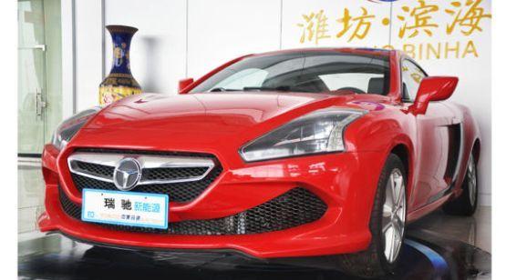 瑞驰生产的跑车 标示酷似特斯拉与奔驰