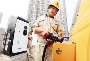 天津54部新能源出租车上路 年内完成充电桩3000根
