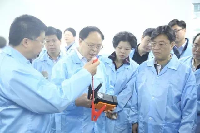 湖南省副省长张剑飞一行调研妙盛动力