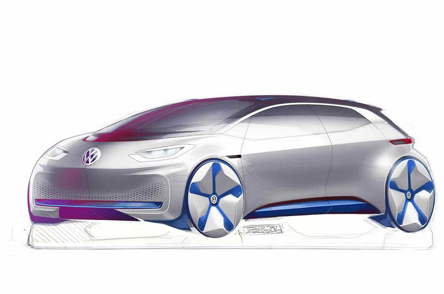 大众全新电动汽车设计图公布 未来感设计