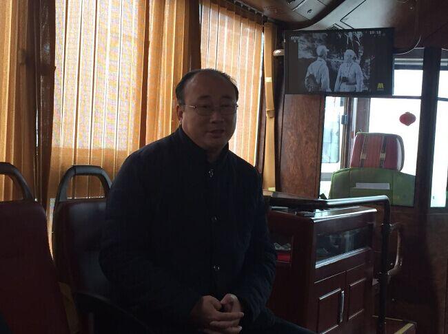 河北保定市公共交通总公司技术设备部部长曹春广接受采访