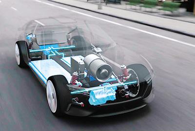 正道新能源车展示模型图