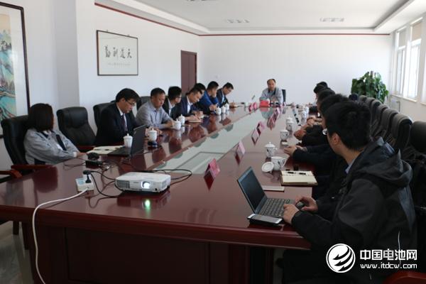 中国锂电新能源产业链调研团一行与天津东皋膜领导交流、座谈