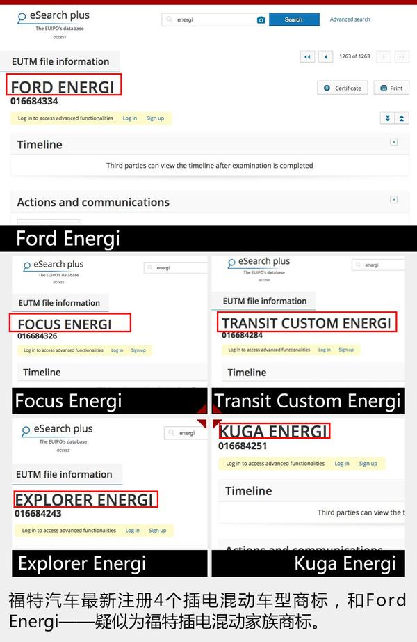 福特4款车型增插电混动版 未来引入国内