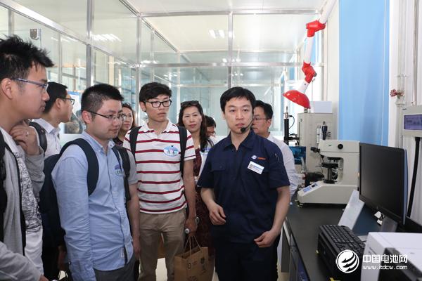 与会代表参观东皋膜生产线及厂区