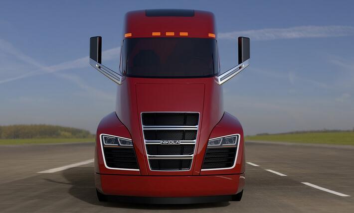 NikolaOne氢燃料长头卡车2020年开始发售