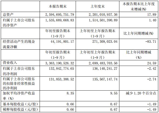 石大胜华主要财务数据(单位:元 币种:人民币)