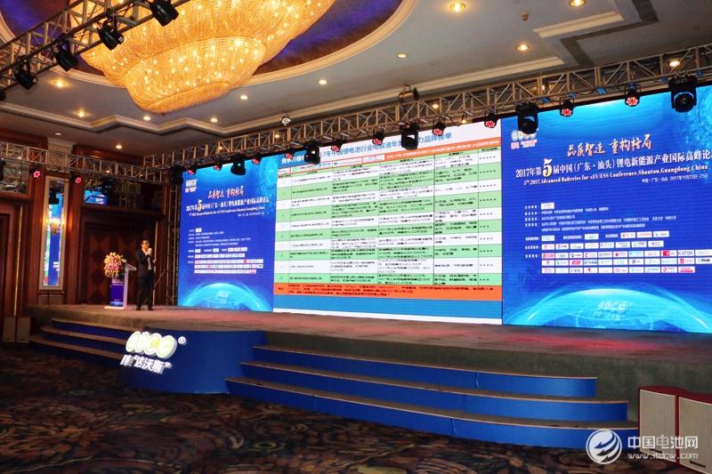 2017年度中国锂电池产业链年度竞争力品牌榜单发布