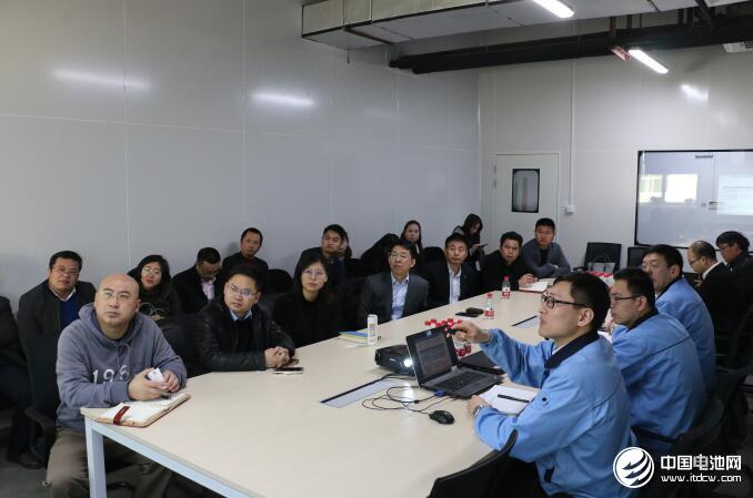 中国锂电新能源产业链调研团一行与苏州力神相关领导交流、座谈