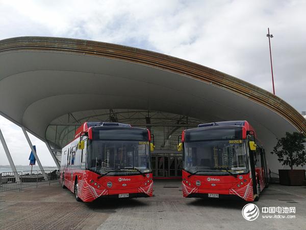 比亚迪在新西兰交付的电动巴士