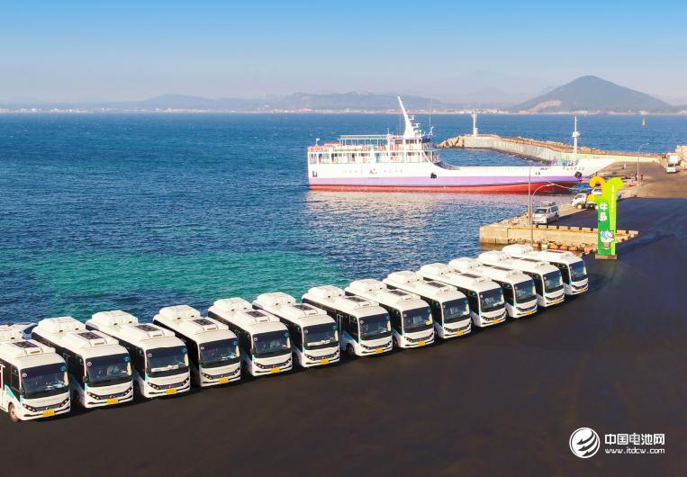 比亚迪在韩国交付的电动巴士