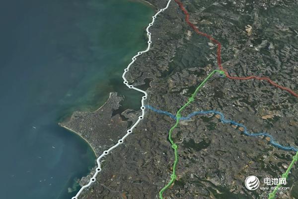 萨尔瓦多云轨线路(白色线条)将与其它轨道交通线路共同打造轨道交通网