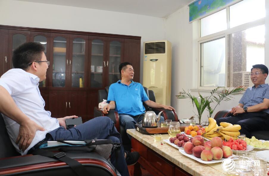 中国锂电新能源产业链调研团一行与青岛海鑫达相关领导交流、座谈
