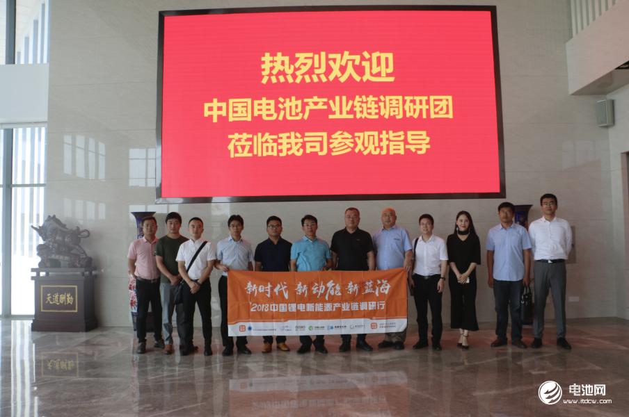 中国锂电新能源产业链调研团一行参观青岛蓝科途膜材料有限公司