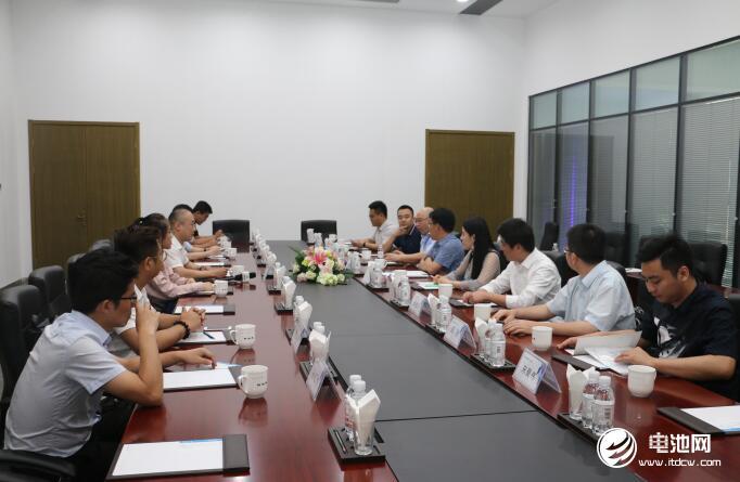 中国锂电新能源产业链调研团一行与青岛特锐德、特来电相关领导座谈交流