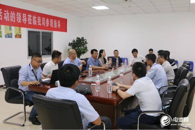 中国锂电新能源产业链调研团一行与青岛比亚迪相关领导交流、座谈
