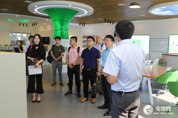 中国锂电新能源产业链调研团一行参观华世洁