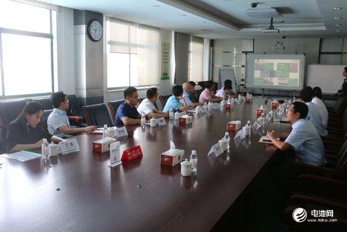 中国锂电新能源产业链调研团一行与华世洁相关领导交流、座谈