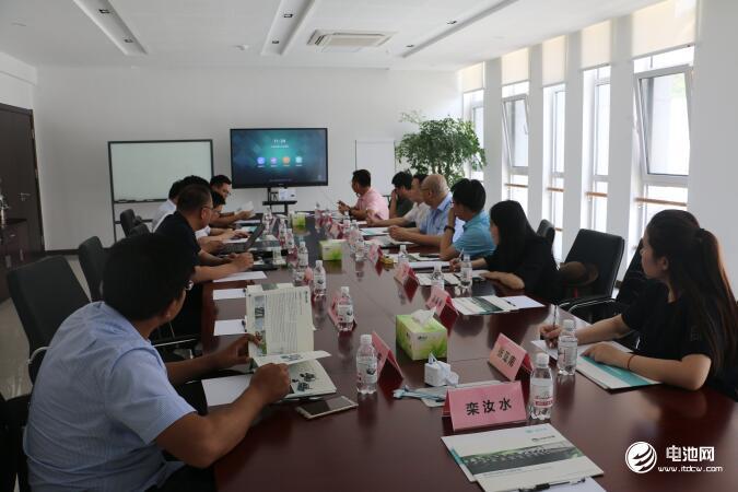 中国锂电新能源产业链调研团一行与中科华联、蓝科途相关领导交流座谈