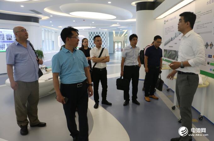 中国锂电新能源产业链调研团一行参观中科华联
