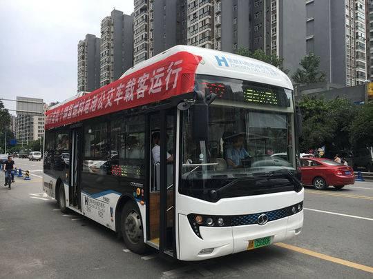 """""""四川造""""氢燃料电池公交车投运 续航500至600公里"""