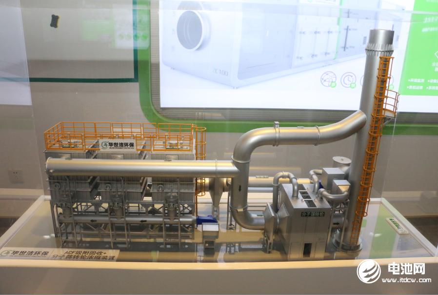 华世洁ACF吸附回收+分子筛转轮浓缩装置