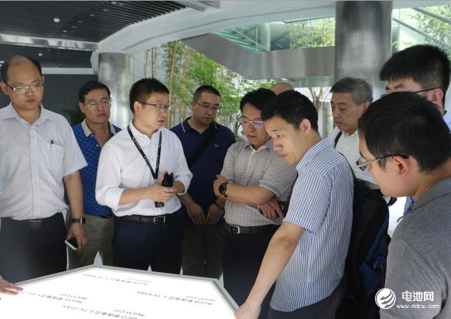 中国锂电新能源产业链调研团一行参观微宏动力